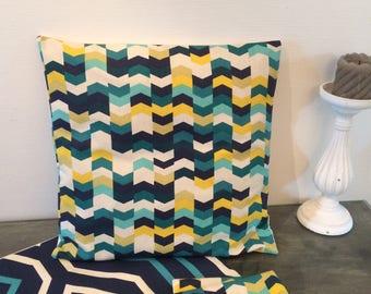 Cotton geometric pillow cover