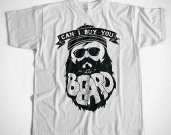 T-Shirt Can I Buy You A Beard  S-4XL Viele Farben Friseur Bart Vollbart Rockabilly Nerd