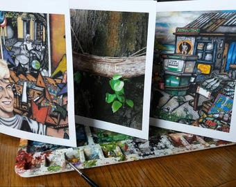 3 Custmized Card Sized Prints - from Wingnut Walker Art Paintings
