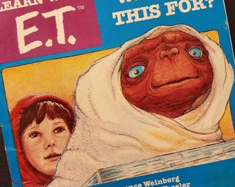 Learn With E.T. What is This For Paperback 80s Vintage 1982