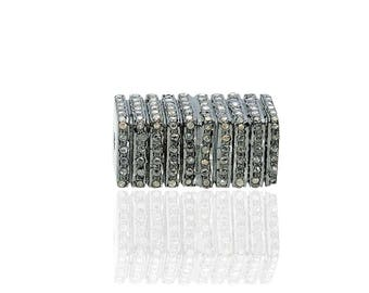 SDC1853 Bead Pave Diamond Charm
