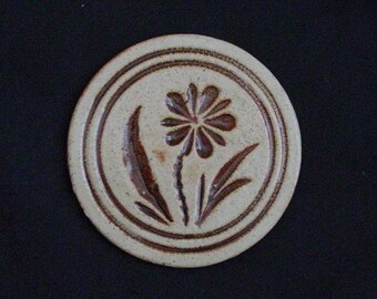 "Pigeon Forge 5"" Tile DAISY (Round) Trivet or Large Coaster ~ Douglas (D.) Ferguson, Pottery Founder (B31) 6857"