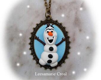 Olaf Necklace - Frozen Necklace - Frozen Olaf Necklace - Olaf's Frozen Adventure Necklace