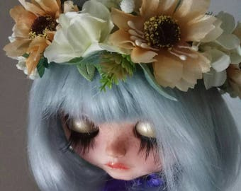 Blythe Flower Crown OOAK Mori Style