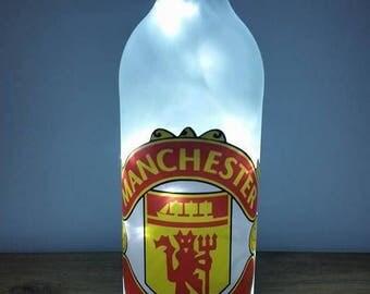 Manchester United bottle lamp