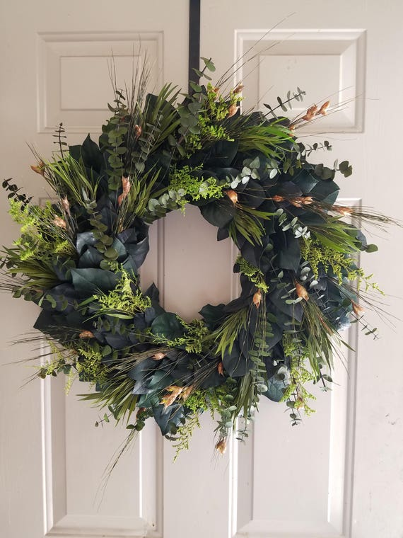 Preserved 24 inch wreath, wreath, large wreath, small wreath, eucalyptus wreath, leaf wreath, decorative wreath, natural wreath