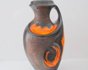 Amazing floor  vase XL  by Walter Gerhards,  West German Pottery  WGP, 2/45 - 45 cm