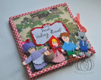 Little Red Riding Hood quiet book gift page Personal wishes Simple Pages Personalized quiet book activity book felt book busy book