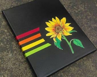 "Sunflower 8"" x 10"" Acrylic On Canvas Original Painting"