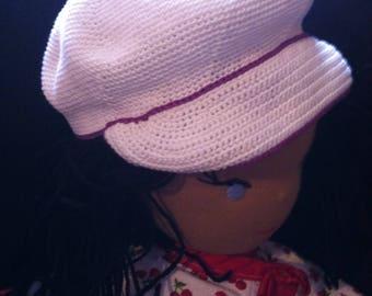 Doll's newsboy style cap