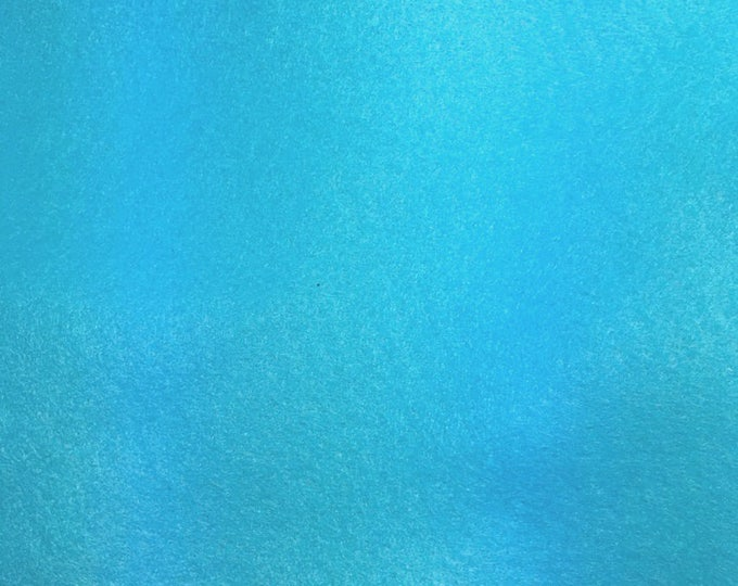 Sold individually, leaf turquoise blue fine felt 30 x 20 cm