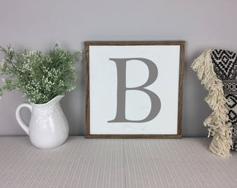 Letter Monogram Sign | Home Decor | Farmhouse Decor | Farmhouse Sign | Fixer Upper Sign