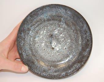 Blue Speckled Low Bowl