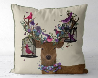 stag pillows Deer pillows Deer cushions purple pillow cover purple decor items farmhouse style unique throw pillows Couch pillow Deer gift