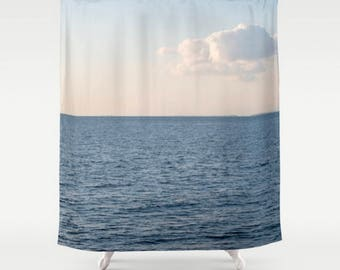 Black Shower Curtain Royal Blue Shower Curtain Geometric Art