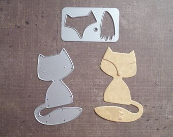 Die cut matrix Sizzix Fox animals set