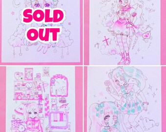 Art Prints - Menhera and Yumekawaii Style