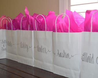 Bridesmaid Gift Bags / Custom Gift Bag / Groomsmen Gift Bags / Wedding Party Gift / Personalized Gift Bag / Bridal Party Gift Bag / Gift Bag