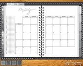 2018 Dated Digital Planner - Black Cover, Monochrome, Wood Desk (40% OFF)