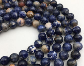 "Gorgeous Orange Sodalite Genuine Smooth Round Loose beads Size 6mm/10mm/12mm 15.5"" Long Per Strand.R-S-SOD-0195"