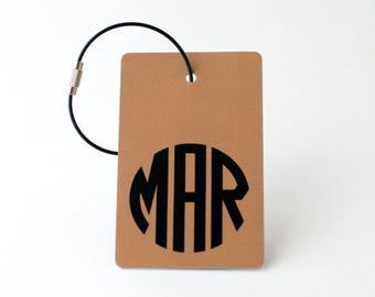 Copper Monogram Luggage Tag - FREE SHIPPING, Copper Monogram Luggage Tag, Luggage Tag, Custom Luggage Tag, Custom Gift, Monogram Gift