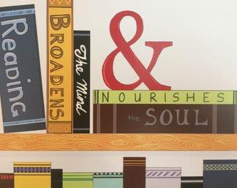 Book Art Print, Library Art, Home Decor, Digital Art Print