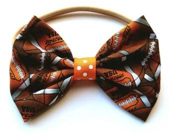Football headband, baby/child football headband, football hair bow, football hair accessories