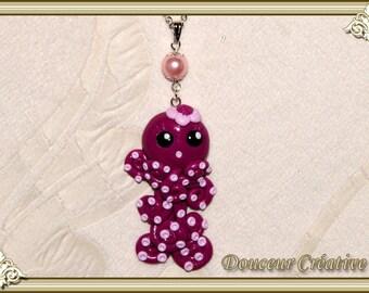 Necklace violet purple Octopus 202011 child