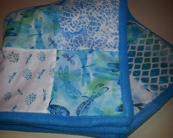 Dragonfly Baby/Toddler Blanket in Teal