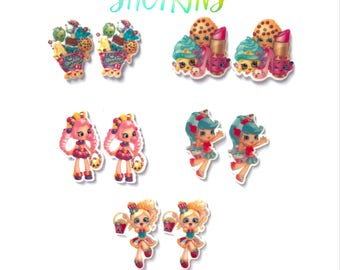 10 or 5 mix  shoppies inspired planar resin , shoppies cabochon