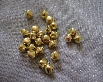 LOT 10 bells charm gilded 10 mm x 6 mm