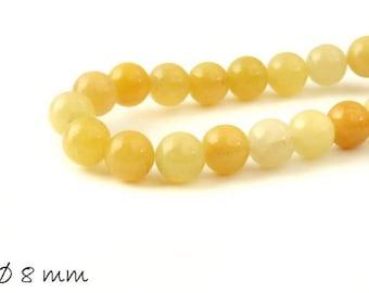 10 pcs yellow Aventurine beads Ø 8 mm