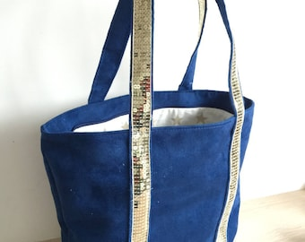 Tote bag size M glitter sequins