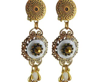 Earring clip Golden India (made in France)