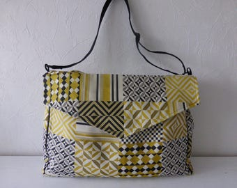 Diaper bag, tissue pattern, Scandinavian, multicolored, made hand