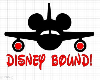 Disney Bound SVG PDF EPS Dxf & Studio 3 Cut Files
