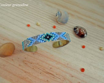 Bangle Bracelet woven seed beads from miyuki, idea cadeauSaint Valentine, mother of the big day, Easter