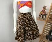 Vtg 80s silk leopard culottes perry ellis america