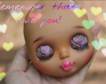 For adoption: Remember that I love you..blythe custom doll by Wowjoblythe ooak