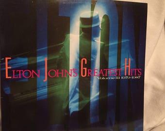 Elton John's Greatest Hits album/lp