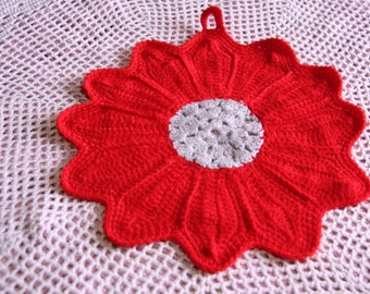 colorful hand made crochet potholders