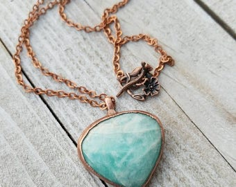 Large Amazonite Pendant