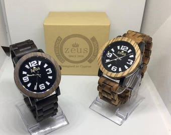 Zeus Wood Watch For Men