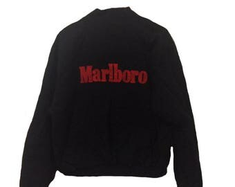 vintage marlboro reversible flight bomber jacket rare medium