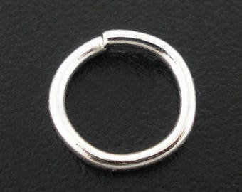Set of 25 round ring 6mm silver