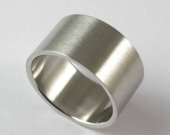 Men Women Simple Style Thumb Sterling Silver Ring Big Wide