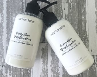Body Lotion Orange Clove: Scented Lotion, Vegan Lotion, Handmade Lotion, Essential Oil Lotion, Shea Butter Lotion, Body Lotion