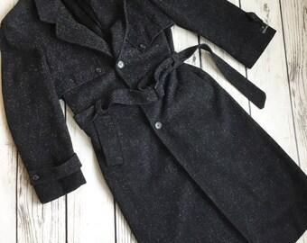 Vintage Bermans wool trench coat