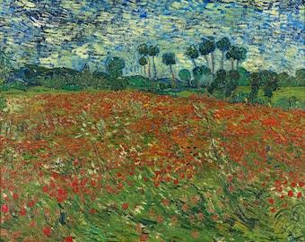Vincent van Gogh, Poppy field, 1890, Museum Quality Giclee Art Print
