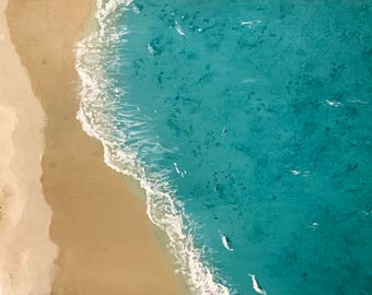 Birds Eye View Beach Painting